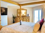 Wake up to a view of the ocean while still in bed!  50' TV, king, walk-in closet