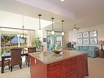 Kitchen, Dining, Living Area and Lanai
