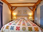 Cozy up on the queen-sized bed in Bedroom 5.