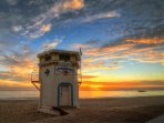 World Famous Life Guard tower on Main Beach where all the action is...