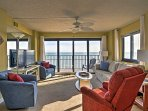 Enjoy glorious ocean views from the spacious living area.
