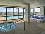 Enjoy access to hot tubs and pools at the complex.