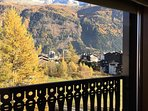 Private balcony view during autumn