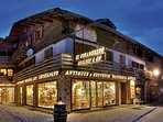 Lo stile antico, ma con il fascino moderno del negozio rinnovato al pian terreno.