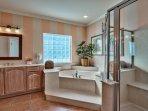 Master Bath Jacuzzi Tub & Free Standing Shower