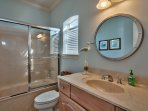 Private Full Bath Off Queen Bedroom