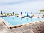 Large pool for our guests, if you feel more like staying at home rather than going to the beach!