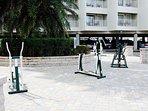 Outside Fitness Gym, don't break a sweat!