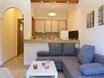 Twin bedroom living room & kitchen