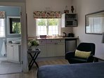 View of kitchenette & bathroom