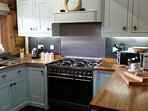 hand built oak kitchen