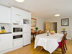 Bright fully equipped modern kitchen