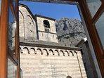 La Dolce Vita Apartment. I. Kotor. Montenegro. Old Town. Bedroom window view