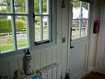 The stable door and the windows are all double glazed.