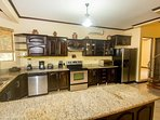 Large kitchen in main home