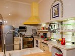 Great cook's kitchen....plenty of space to have helpers in the kitchen.