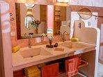En suite bath for bedroom #2.