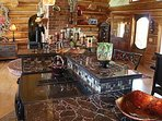 Mosaic granite kitchen bar, jennaire, new Bosch dishwasher and subzero fridge/freezer. Full pantry!