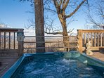 Great views even from the Hot Tub !