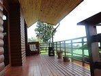 Large Covered Balcony Ideal for Bird Watching and Relaxing