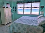 Master Bedroom features a King-size bed and a spectacular beach view!