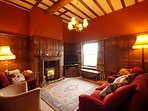 Warming fire and lovely countryside views - the perfect setting for your holiday