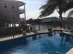 Beautiful pool located next to house. You can rent the home with or without the pool.