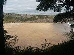 Barafudle beach.