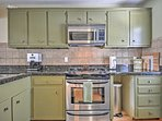 Whip up a tasty treat in this fully equipped kitchen, complete with stainless steel appliances and a coffeemaker.