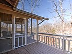 The screened in porch area is a great place to spend time with your loved ones or fur baby.