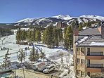 Just look how close this condo is to the ski slopes!