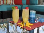 Morning Mimosas in the Cabana.