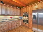 The stainless steel appliances make cooking a breeze.