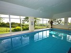 Private indoor heated swimming pool