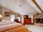Enjoy the master bedroom's private fireplace.