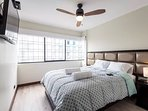 Master Bedroom: Queen size bed, smartTV, walking closet, celling fan,  anti-noise windows, bathroom