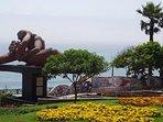 PARQUE DEL AMOR ( Love park), 7 minutes walking distance . Iconic beachfront park