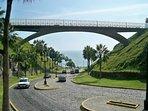 Road to the beach. You can walk to the Waikiki beach and Makaha beach.