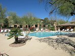 Enjoy the AZ sun in the gorgeous heated pool and spa area
