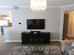 60' TV with cable and Smart BluRay player