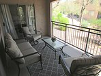 East facing patio is perfect for morning coffee