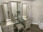 Gorgeous vanity in master closet