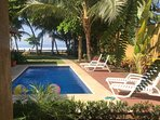 Casa Bejuco Ay Bonita . . . a beautiful beachfront retreat! Pool shared by four units.