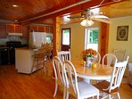 Kitchen! with breakfast bar, table that seats 6, fully equipped
