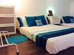 Dormitorio con 2 camas de 1,50.