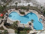 View Of Beach Front Pool & Hot Tub From Above