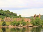 Urquhart Castle on Loch Ness - 3 miles from the chalet