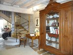 Entranceway with French antique furniture