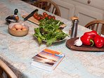 Keen cooks welcome to make the most of receipe books, dry goods and utensils