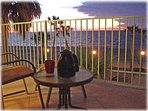 Time for morning coffee as the sun rises on your private balcony